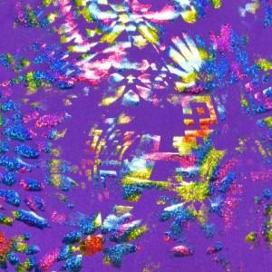 Multi Foil Purple Spandex