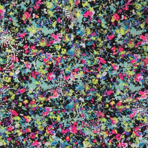 Neon Floral Print Silver Foil | Melted Flowers
