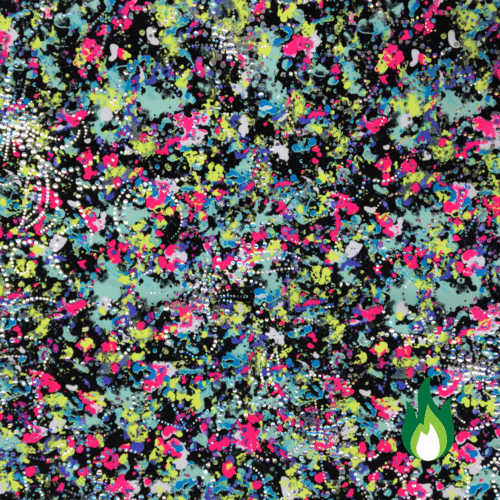 Melted flowers foil spandex, floral spandex, floral fabric