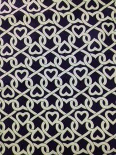 black white heart print