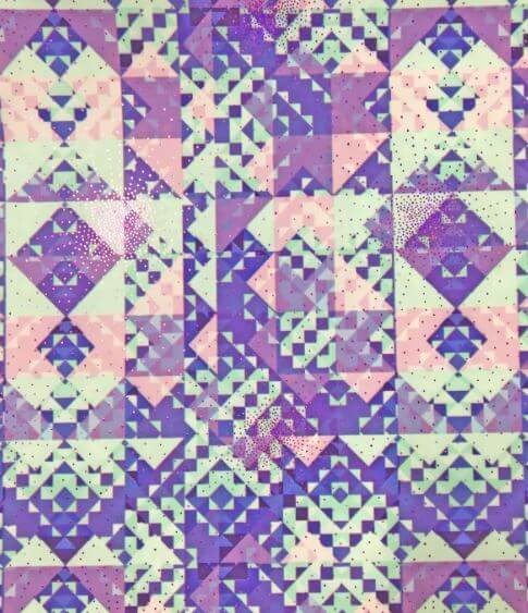 Pastel Aztec Foil Print Spandex, Pastel print fabric, geometric fabric