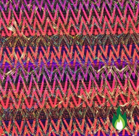 Neon Chevron Spandex, chevron fabric, chevron spandex