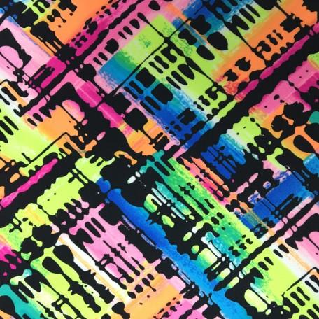 Colorful Plaid Printed Spandex