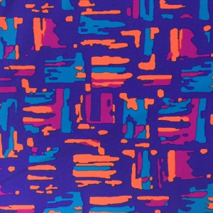 colorful abstract printed spandex
