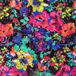 Neon Floral Foil Print