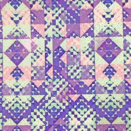 Pastel Aztec Foil Print