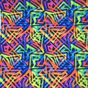neon geometric print