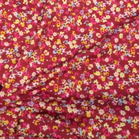 Red Floral Print Spandex
