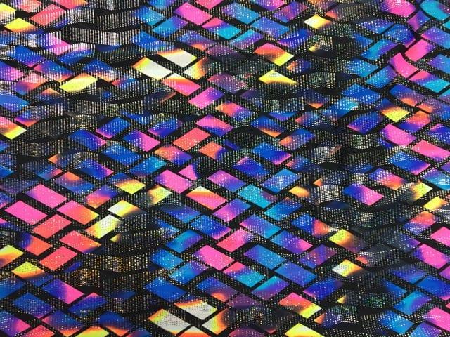 Tie Dye Foil Printed Spandex