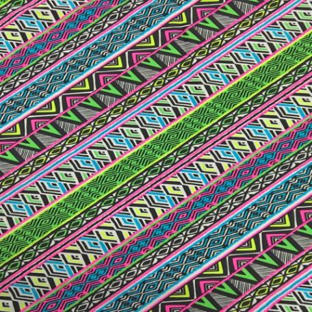 Bright Aztec Printed Spandex