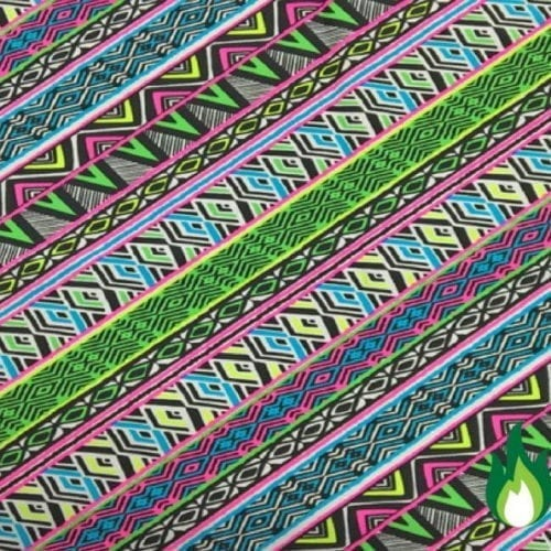 Quilted Sarape Print Spandex, Neon Tribal print, tribal print