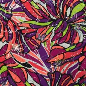 Floral Sparkle Printed Spandex | 70's Sparkle