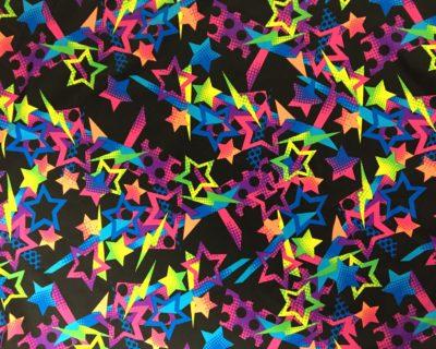 Neon Star Printed Spandex