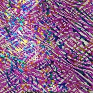 Bright Printed Foil Spandex | Reflector with Foil