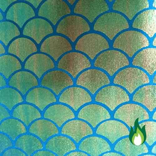 Mermaid Scale Blue fabric, mermaid fabric, shiny mermaid fabric