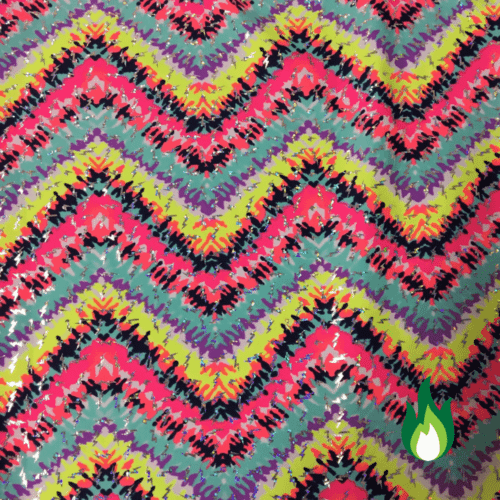 Blurred Neon Chevron Spandex, Custom fabric, chevron fabric