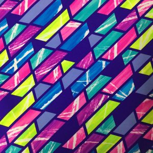 Bright Color Block Printed Spandex | Stride