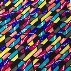 Bright Color Block Printed Spandex