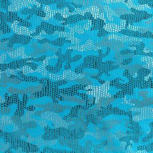 Blue Digital Camo Spandex