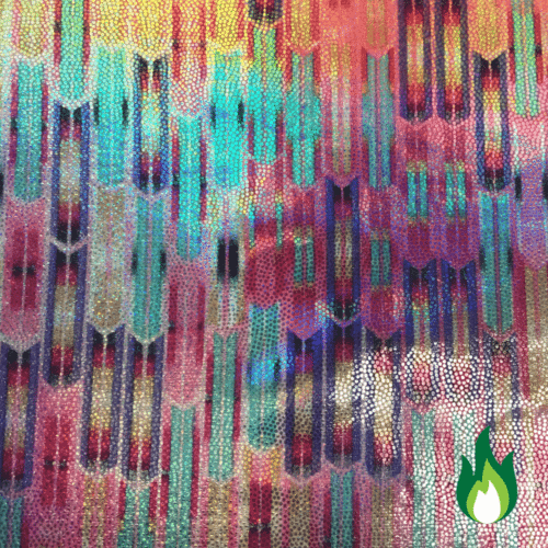 Abstract Pastel Hologram, hologram fabric, pastel fabric