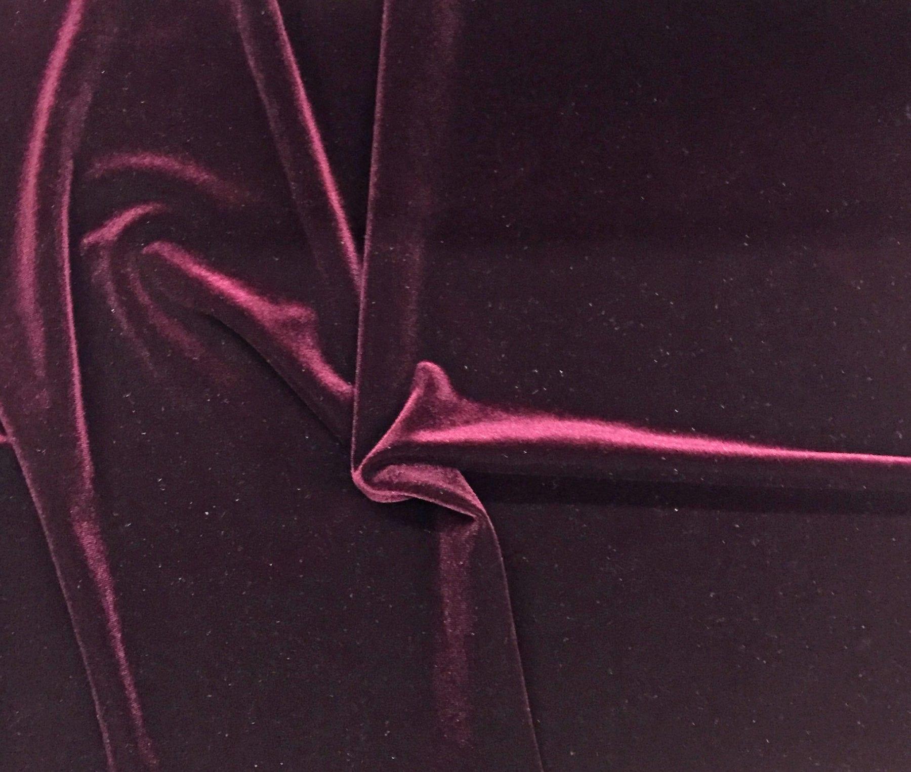 BURGUNDY Stretch Velvet