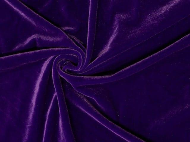 Purple Stretch Velvet