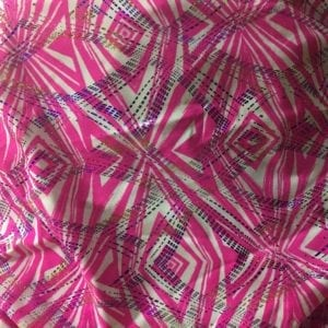 Reflector Foil - Pink, printed spandex