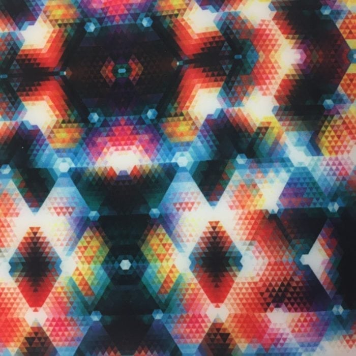 Geometric Kaleidoscope Spandex, Geometric fabric, geometric spandex