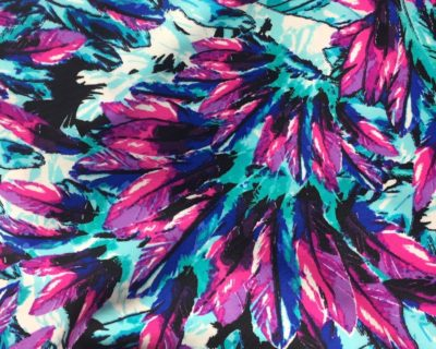 Feathers | Bright Vivid Fabric