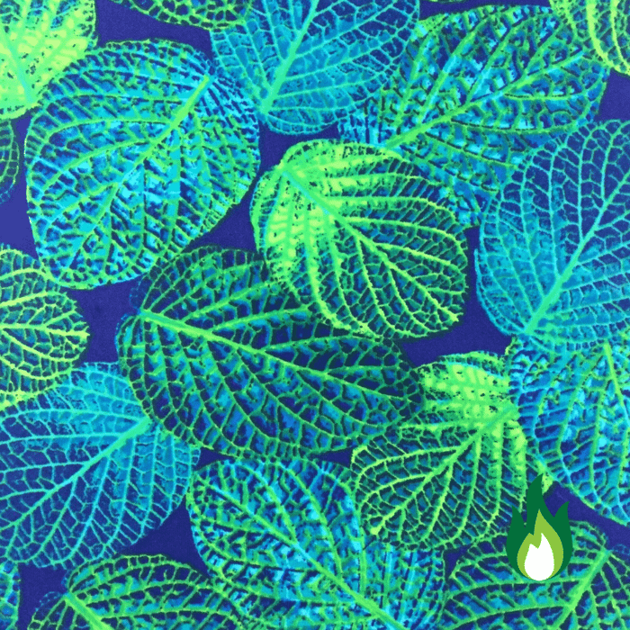 Botanical Leaves Spandex, nature fabric, neon fabric