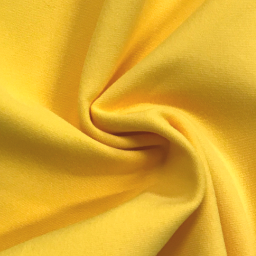 Yellow Cotton Poly Lycra Fabric, yellow fabric, discount fabric