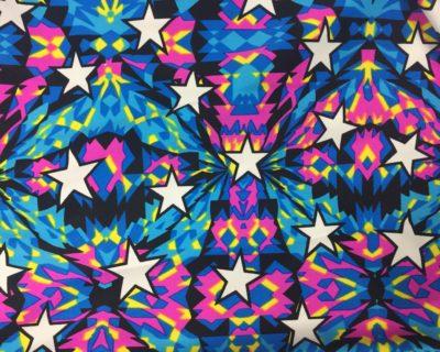 Kaleidoscope Stars | Multi Colored Stars Fabric