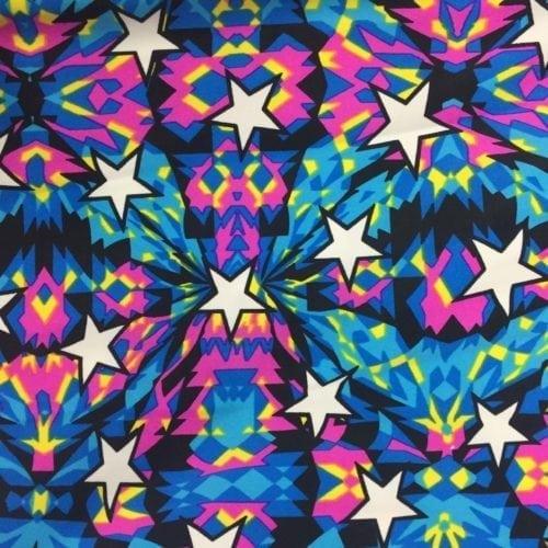 Kaleidoscope Stars Spandex, star fabric, gymnastics fabric