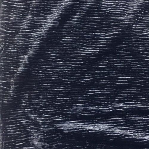 Navy Pleated Velvet Spandex, Velvet fabric, Velvet spandex