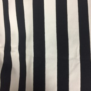 Cotton Poly Lycra in Black and white stripes