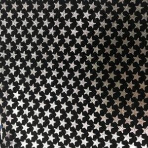 Foli Multi Silver Stars, silver stars fabric, spandex fabric, holographic fabric