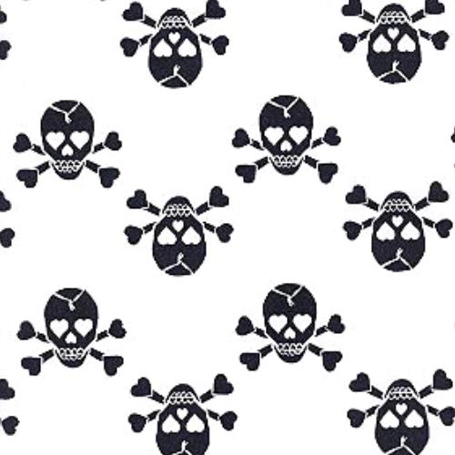 Heart Eyed Skulls, Heart Eyed Skulls spandex print, skull fabric,