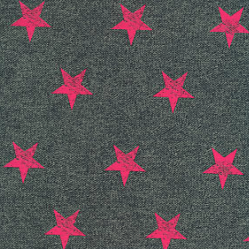 Distressed Pink Star Print , printed spandex, trendy star spandex fabric, star fabric