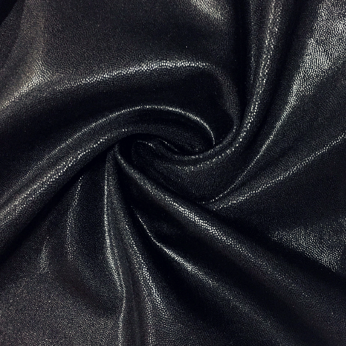 Obsidian Jewels Spandex, flat foil fabric, black fabric, flat foiled spandex tricot, flat foiled spandex fabric, shiny black fabric