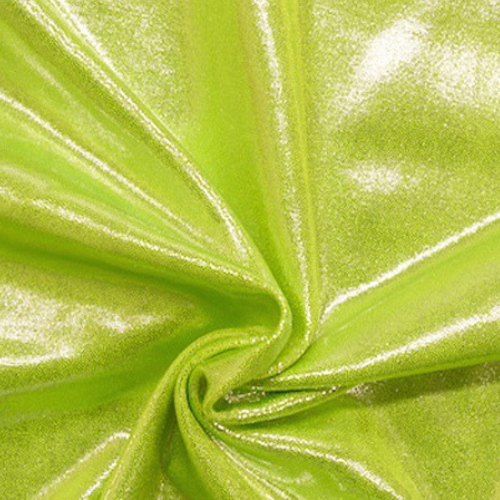 New Peridot Jewels Spandex, flat foiled fabric, green fabric, shiny green fabric, gymnastics fabric, dance fabric