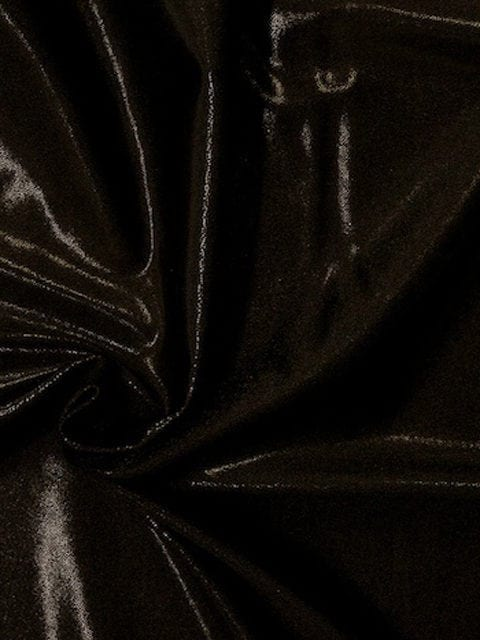 Obsidian Jewels Spandex, flat foil fabric, black fabric, flat foiled spandex tricot, flat foiled spandex fabric, shiny black fabric