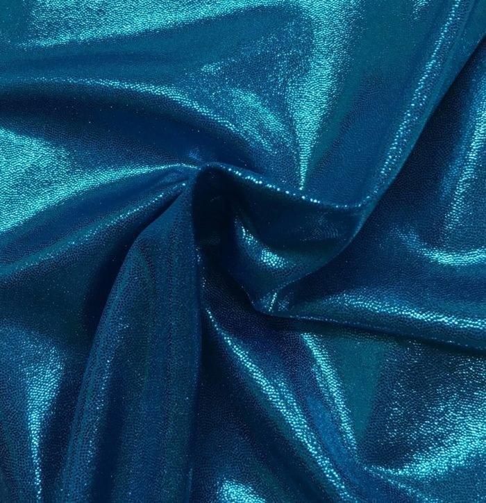 Turquoise Jewels Spandex, blue fabric, shiny blue fabric, dance fabric, gymnastics fabric