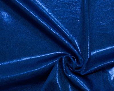 flat foiled tricot, Lapis Lazuli flat foiled tricot, flat foiled spandex tricot, flat foiled spandex fabric, flat foiled spandex