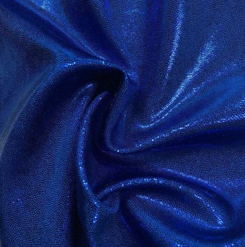 Lapis Lazuli Jewels Spandex, flat foil fabric, blue fabric, shiny blue fabric, dance fabric, gymnastics fabric