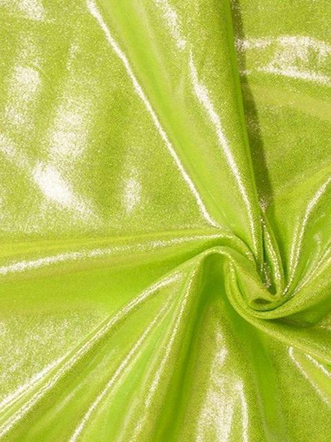 New Peridot Jewels Spandex, flat foiled fabric, green fabric, shiny green fabric, gymnastics fabric, dance fabric