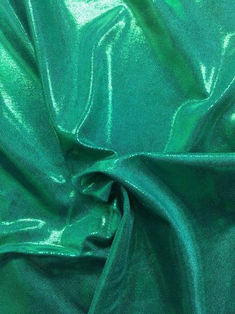 Jade Jewels Spandex, flat foil fabric, green fabric, shiny green fabric, gymnastics fabric, dance fabric