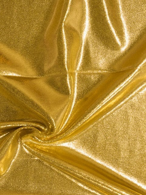 El Dorado Jewels Spandex, gold fabric, shiny gold fabric, gymnastics fabric