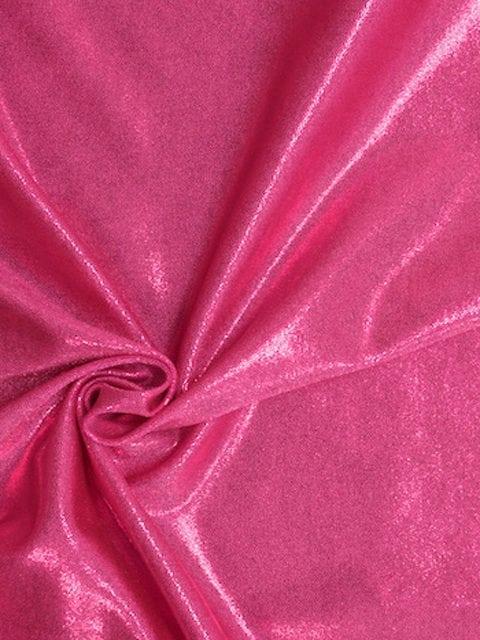 Pink Jewels Spandex, pink flat foil fabric, pink fabric, shiny pink fabric, gymnastics fabric