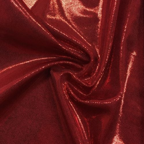 Ruby Jewels Spandex, flat foiled tricot, red flat foiled tricot, red fabric, dance fabric, gymnastics fabric, shiny red fabric, flat foil fabric,