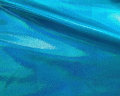 Twinkle Turquoise Starlet Hologram Tricot, liquid shine spandex fabric, liquid shine tricot fabric, stretchy liquid shine, strechy holographic fabric